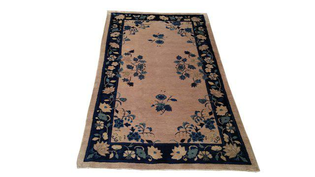 Antique Chinese Art Deco Handmade Knotted Rug 3 10 215 6