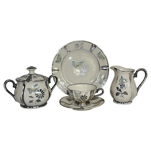 1920s Stolzenfels Silver Butterfly Tea Set/10 For Sale - Image 5 of 7