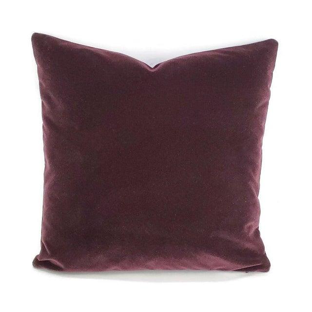"Textile Pollack Sedan Plush in Imperial Purple Pillow Cover - 20"" X 20"" Dark Purple Velvet Cushion Case For Sale - Image 7 of 7"