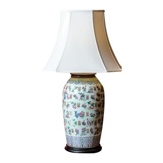 Asian Porcelain Table Lamp-Large For Sale