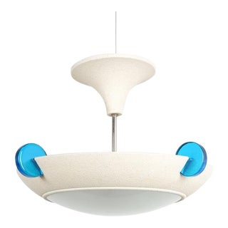 Post Modern Memphis Style Semi Flush Mount or Chandelier, Italy For Sale