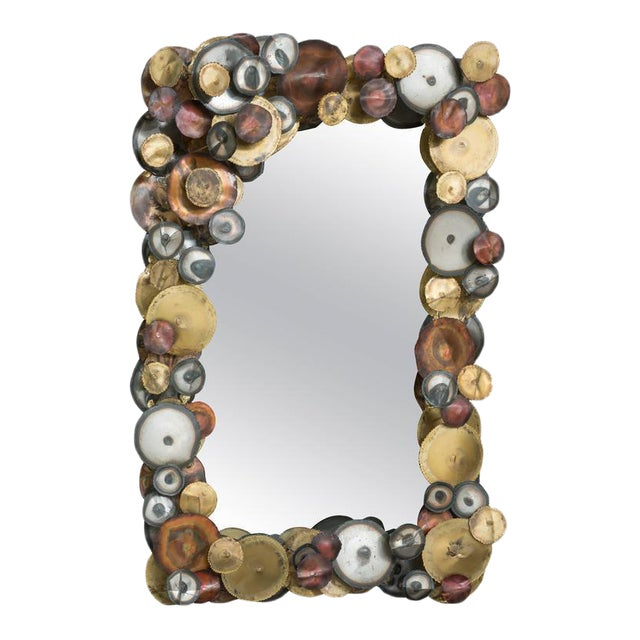 Curtis Jere Raindrops Mirror For Sale