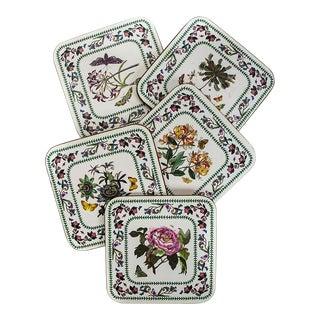 Vintage Portmerion Botanic Garden Coasters- Set of 5 For Sale