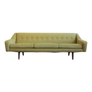 Danish Teak Lime Green Sofa For Sale