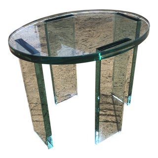 Postmodern Glass Side Table For Sale