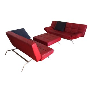 "Ligne Roset ""Smala"" Sofa Set & Pillows - Set of 3"