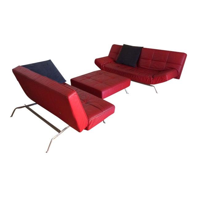 "Ligne Roset ""Smala"" Sofa Set & Pillows - Set of 3 For Sale"