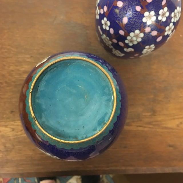 Cloisonné Vintage Vases - A Pair - Image 8 of 8