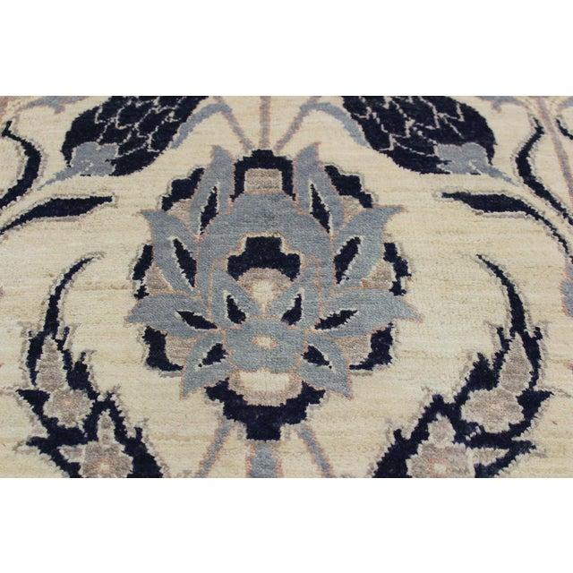 Kafkaz Peshawar Floyd Ivory/Drk. Blue Wool Rug - 8'0 X 10'2 For Sale - Image 4 of 8