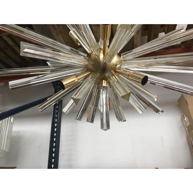 Murano Glass Triedo Sputnik Gold Brushled Chandelier For Sale In Columbus, GA - Image 6 of 12