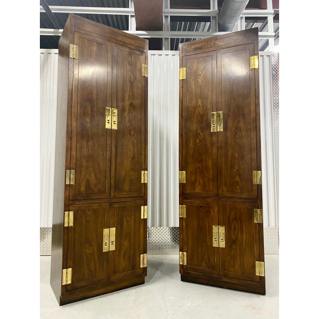 Vintage Henredon Campaign Chifforobe- a Pair For Sale - Image 11 of 11
