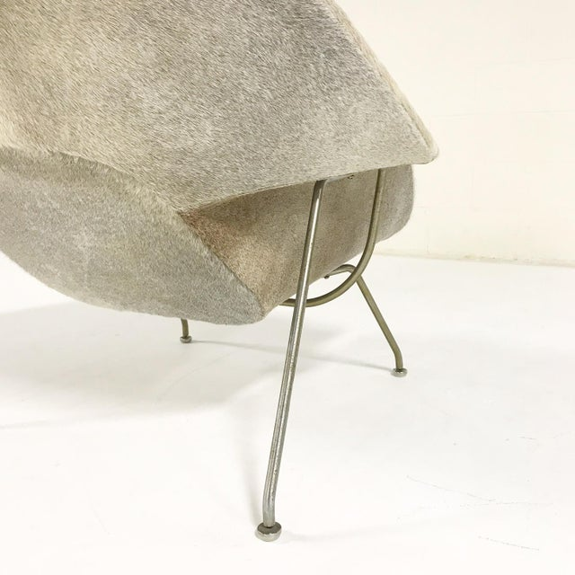 Animal Skin Vintage Eero Saarinen Womb Chair Reupholstered in Brazilian Cowhide For Sale - Image 7 of 11
