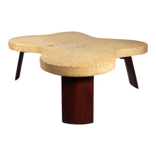 Paul Frankl Cork Top Amoeba Coffee Table for Johnson Furniture For Sale