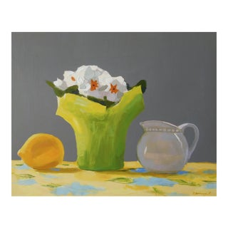 Primroses, Lemon and Creamer by Anne Carrozza Remick For Sale