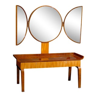Swedish Art Deco Moderne Dressing Table attributed to Boet For Sale