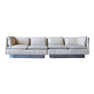 Milo Baughman Curved Back Sofa For Sale
