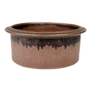 "Arabia Finland Ruska Vegetable Bowl 9 1/4"" Ulla Procope Brown Ceramic Scandinavian For Sale"