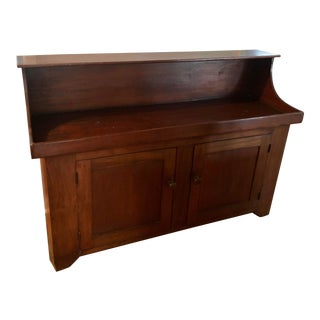 1940s Cherry Wood Original Condition Dry Sink For Sale