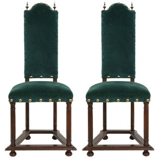 1920s Vintage French Jacobean Side Chairs- a Pair For Sale