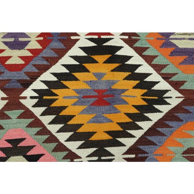 Mid 20th Century Vintage Turkish Kilim Rug For Sale - Image 5 of 13