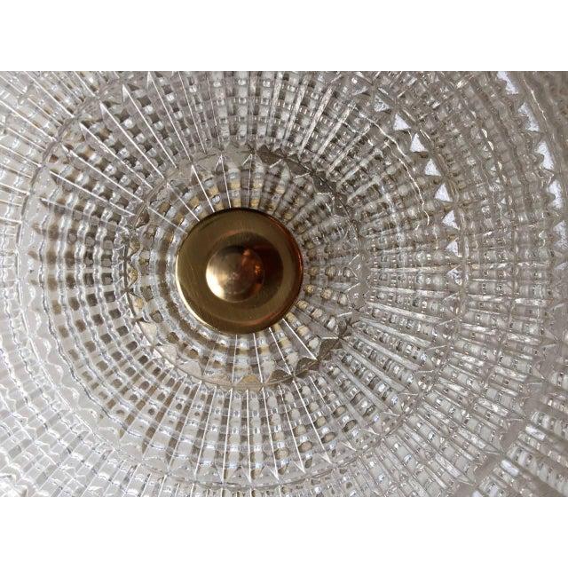 1950s 1950s Stejnar Austrian Crystal Flush Light Pendant For Sale - Image 5 of 11