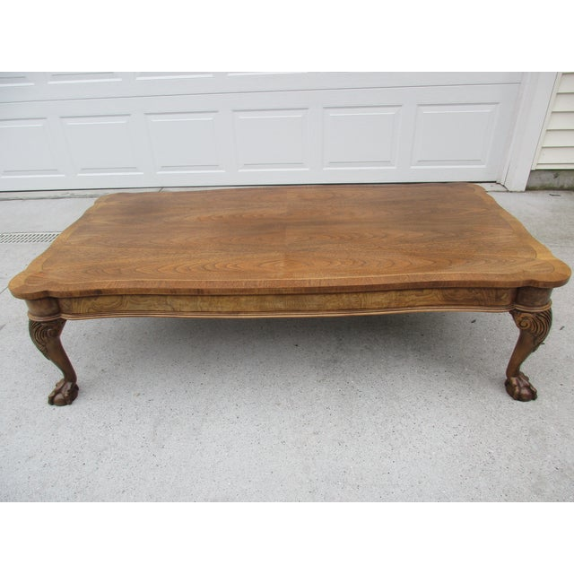 Baker Furniture Claw Foot Coffee Table Chairish