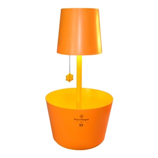 French Veuve Clicquot Ponsardin Champagne Cooler, Ice Bucket With Table Lamp For Sale