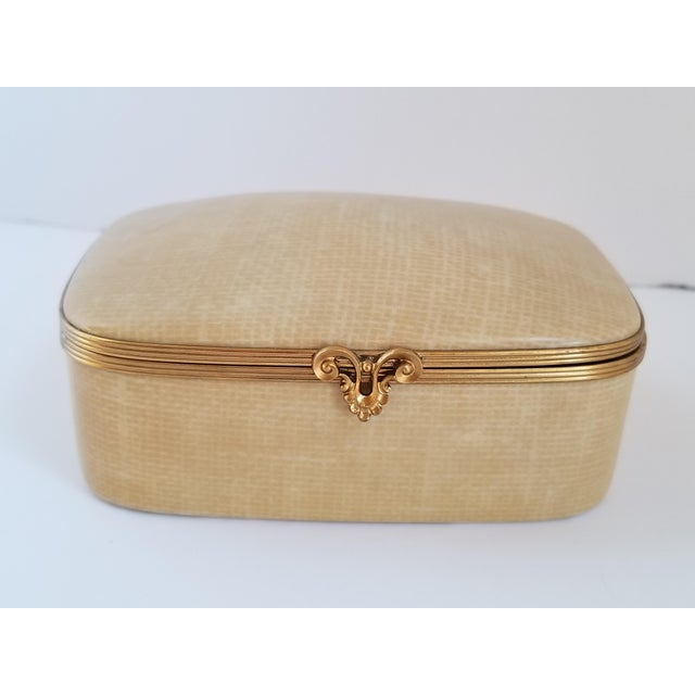 French Vintage Chamart Limoges Trinket Box For Sale - Image 3 of 12