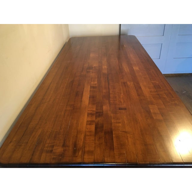 Brown 20th Century French Country Farmhouse Dining Table For Sale - Image 8 of 9