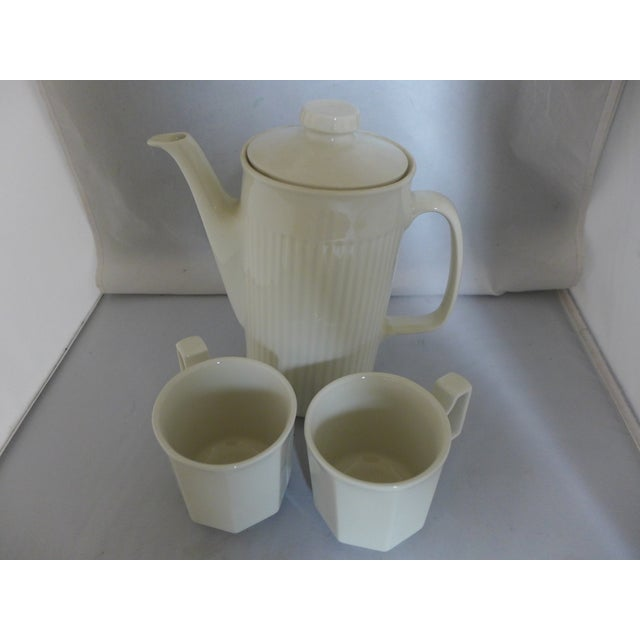 White Ironstone Tea Service Set - 3 Pieces For Sale - Image 4 of 7