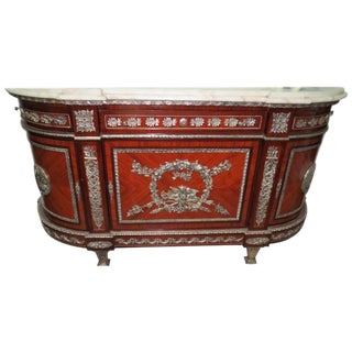 19th Century Empire Style French Marble Topped Commode For Sale