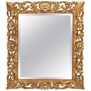 19th Century Baroque Style Gilt Wood Mirror For Sale