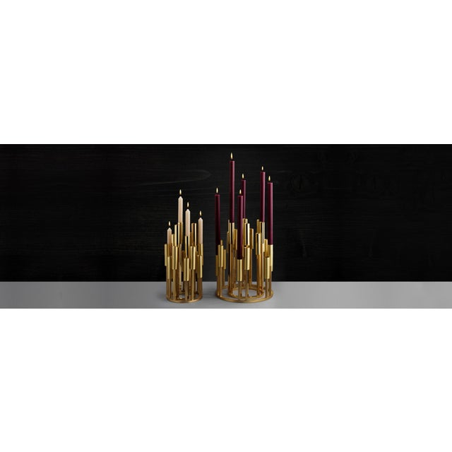 Renaissance Borgia Brass Chandelier, Carla Baz For Sale - Image 3 of 8