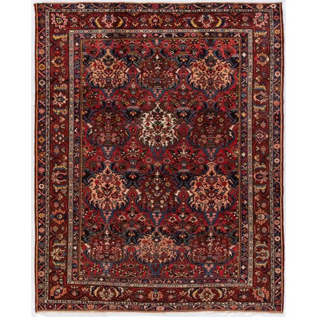 "Apadana - Antique Bakhtiari Rug, 10'6"" X 13'5"" For Sale - Image 10 of 10"
