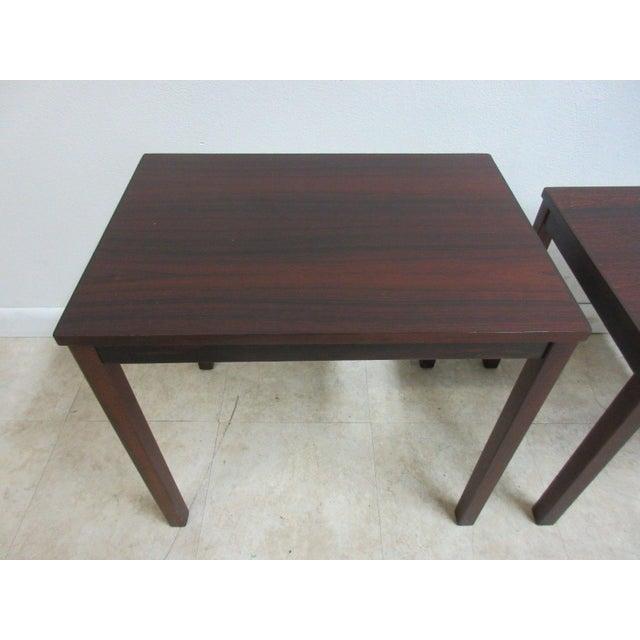 Wood Vintage Danish Modern Rosewood Nesting Tables - Set of 3 For Sale - Image 7 of 9