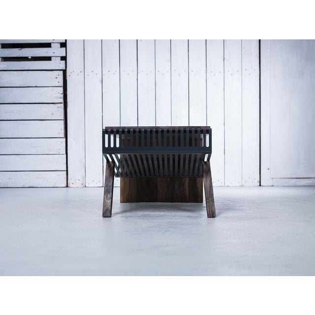 Solid Wood & Perforated Steel Coffee Table - Image 8 of 8