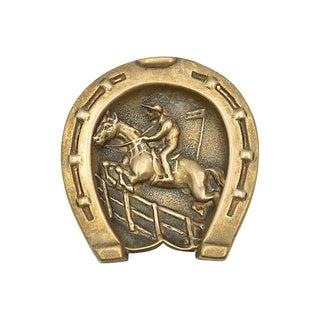 Antique English Brass Equestrian Coin Dish