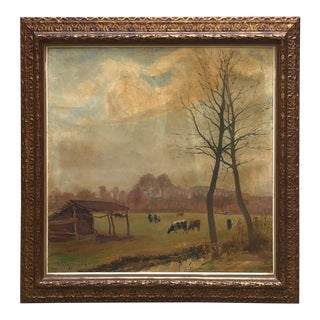 Framed Oil Painting on Canvas by H. Van Landenghem (1912 - 1976) For Sale