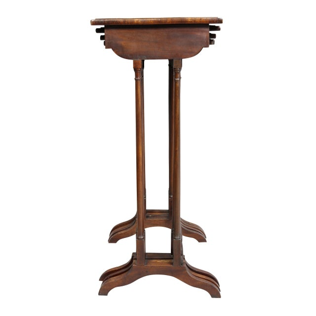 Regency Mahogany Quartetto Tables - Set of 4 For Sale - Image 11 of 12