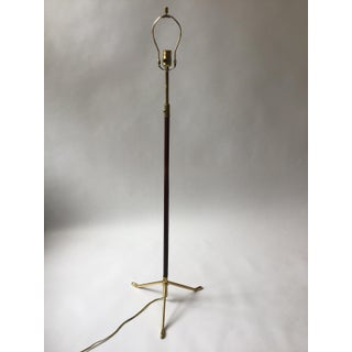 1960s Italian Leather and Brass Floor Lamp Preview