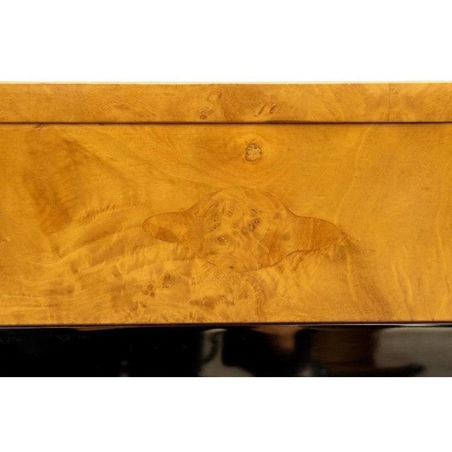 Burlwood and Nickel Writing Desk by Milo Baughman For Sale - Image 9 of 12