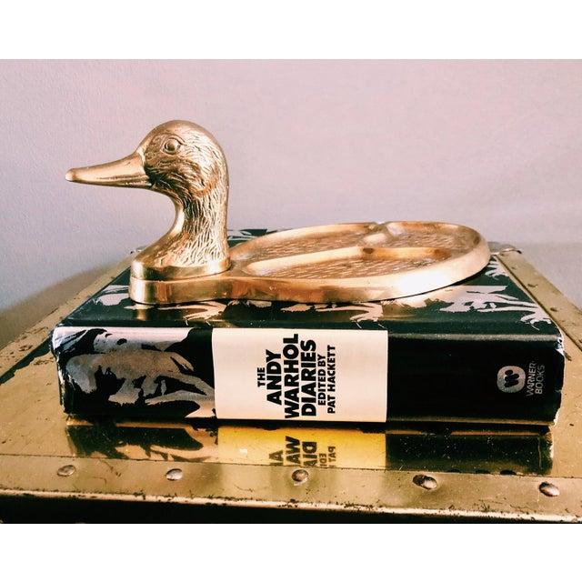 20th Century Hollywood Regency Brass Duck Divided Pocket Valet Catchall For Sale In Nashville - Image 6 of 6