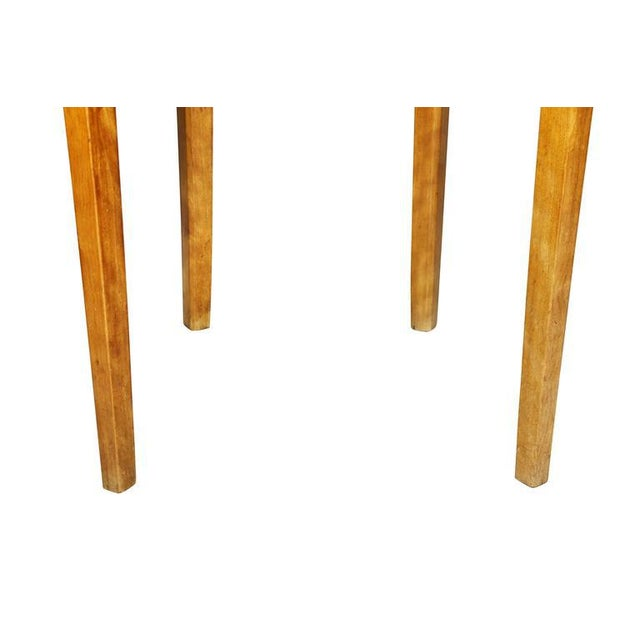 Brown Pair of Neoclassic Birch Demilune Console Tables For Sale - Image 8 of 10