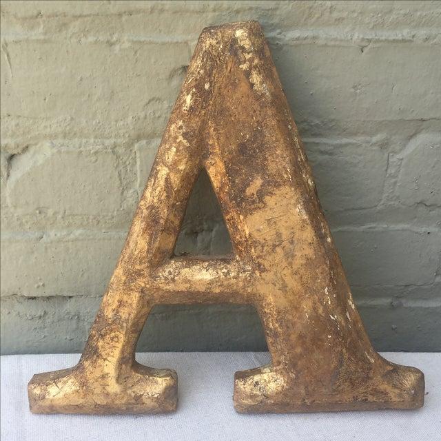 "Gilt Wood Letter ""A"" - Image 2 of 5"