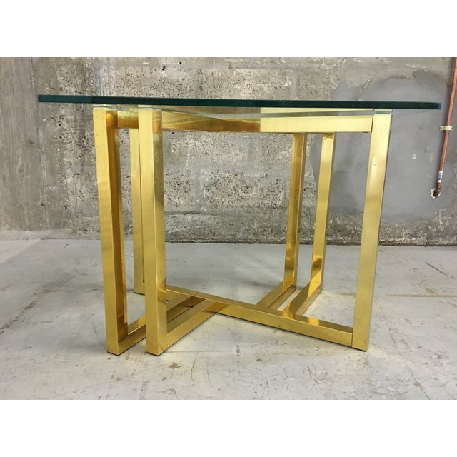 Mid-Century Modern Anodized Aluminum End Table - Image 4 of 7