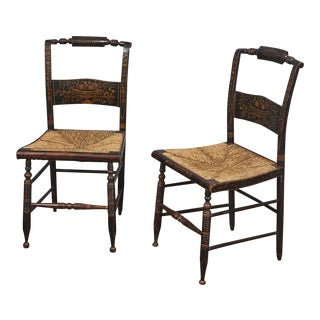 Pr. Antique Hitchcock Side Chairs For Sale
