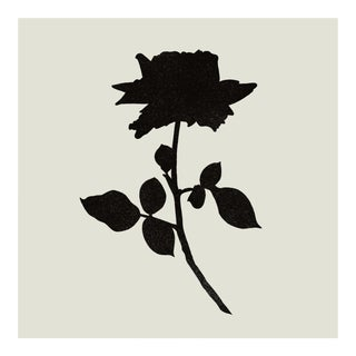 Pop Art Rose in Charcoal & Fog Print by Jessica Poundstone For Sale
