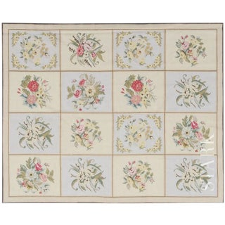 Stark Studio Rugs Traditional Portuguese Needlepoint Wool Rug - 11′1″ × 15′5″ For Sale