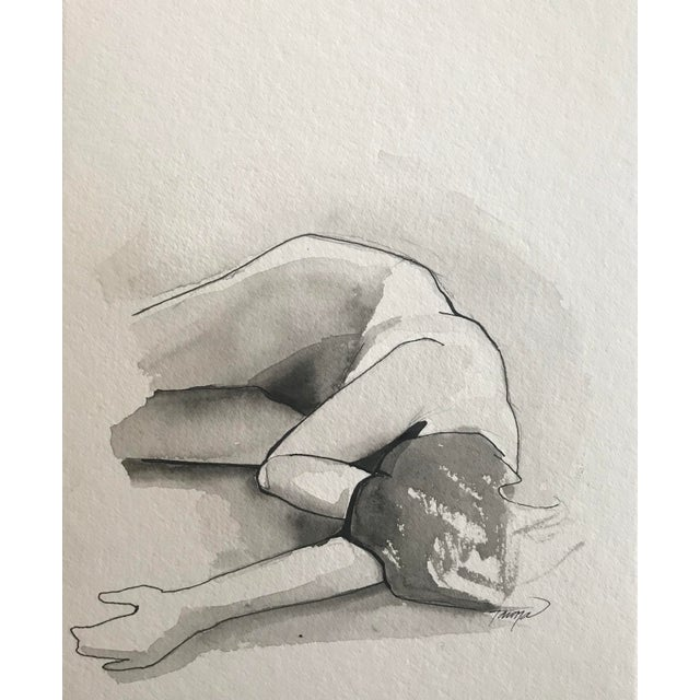 """Contemporary Watercolor """"Figure Painting I"""" by Tawna Allred For Sale - Image 4 of 4"""