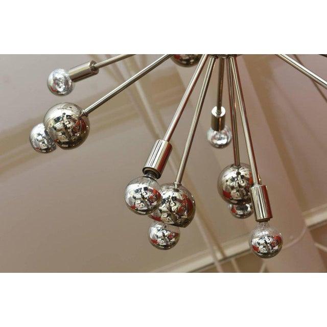 Nickel Silver 24 Bulb Sputnik Vintage Chandelier - Image 9 of 10